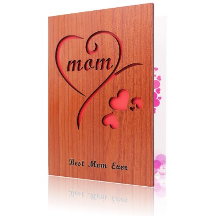 Wooden Mothers Day Gift Card