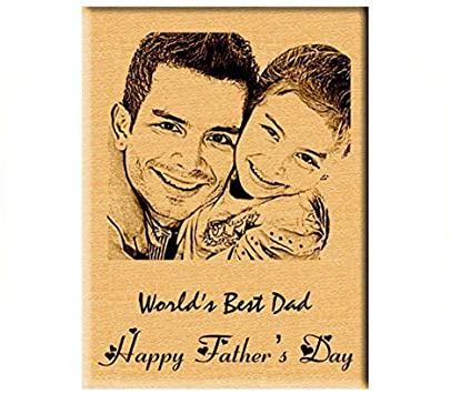 Personalised Engraved Photo Plaque Wood