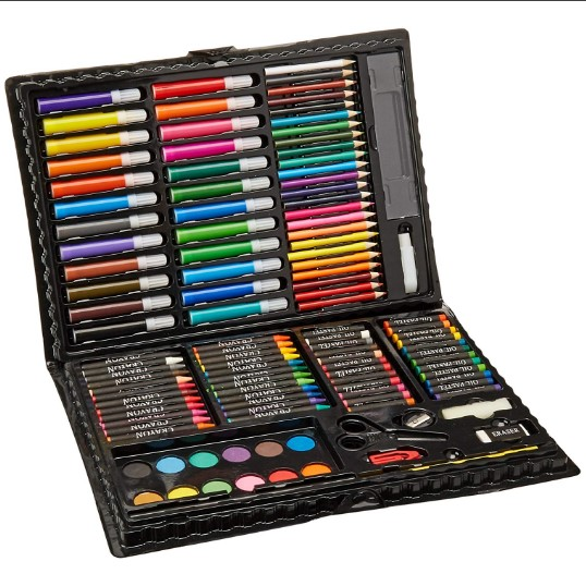 Deluxe Art Set for Drawing, Painting and More