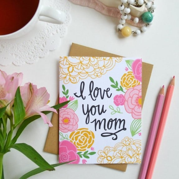 1. I love you Mom Mother's Day Gift Card