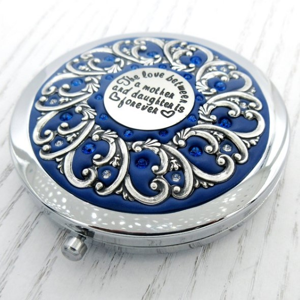 I love you card Mirror - Mother and Daughter Compact