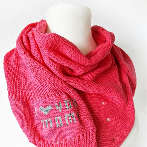 I love You Mom Shawl Gift for Mom