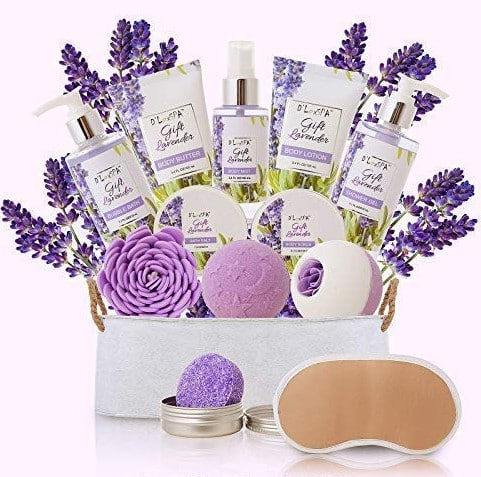 Mother's Day Lavender Home Spa Kit Gift Baskets