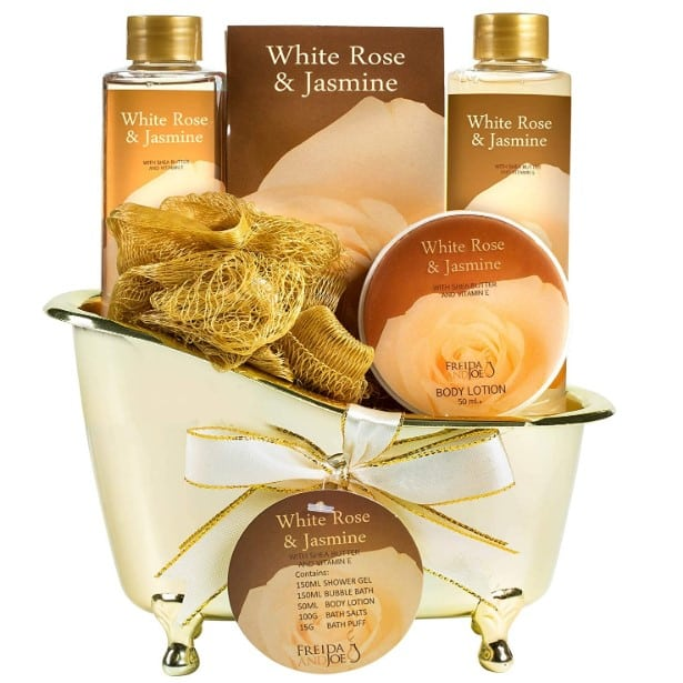 Mother's Day Luxurious White Rose Jasmine Spa Gift Basket