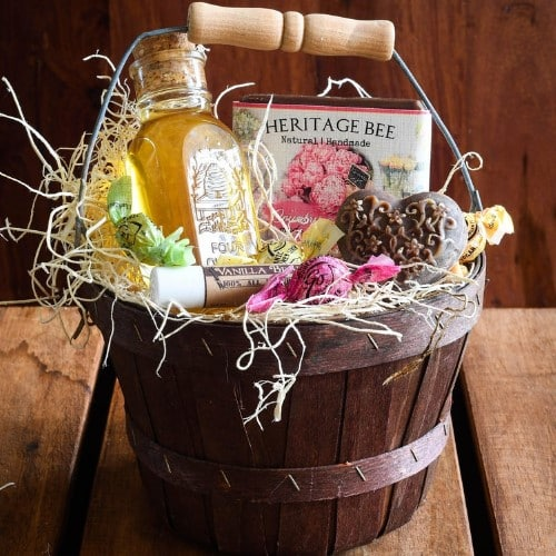 Mother's Day Raw Honey and Handmade Gift Baskets