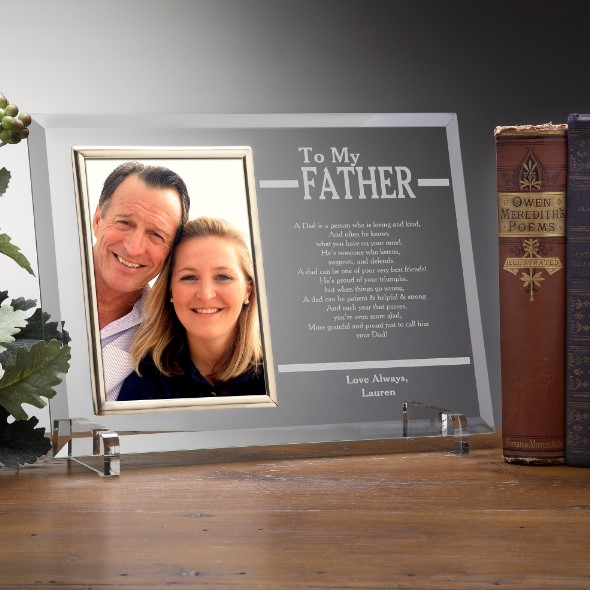 Personalised Gifts for Father Engraved Frame