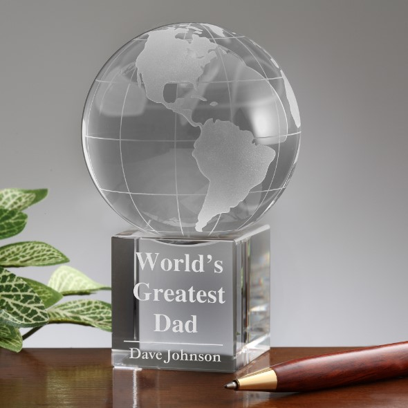 Personalised Globe The World's Greatest Dad