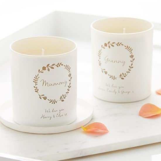 7. Personalised Illumer Scented Candle - Floral Wreath
