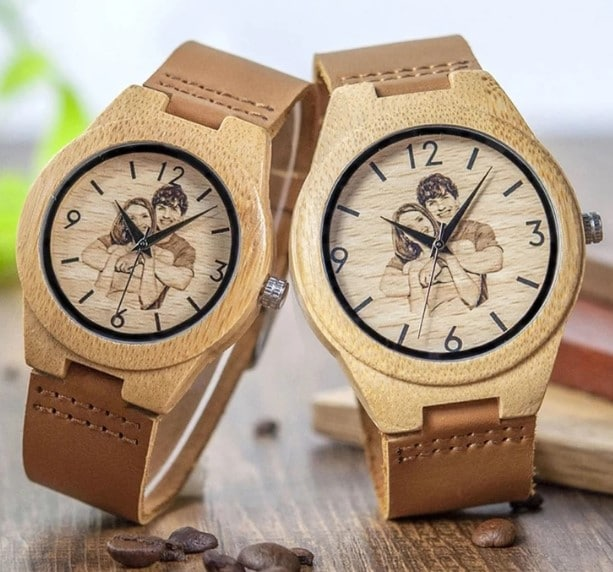 Personalized Engraved Wooden WristWatch