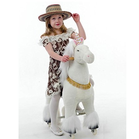 Ponycycle Ride-On Unicorn for 4-9 Years Old